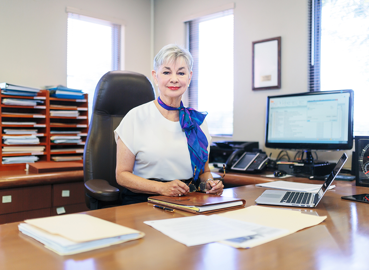 Chief Financial Officer in her office