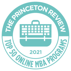 The Princeton Review top 50 online mba programs